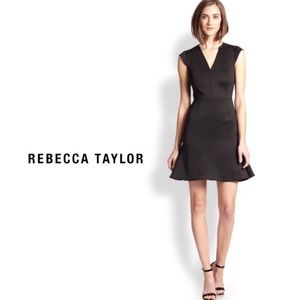 Rebecca Taylor Ponte Fit & Flare Lace Dress